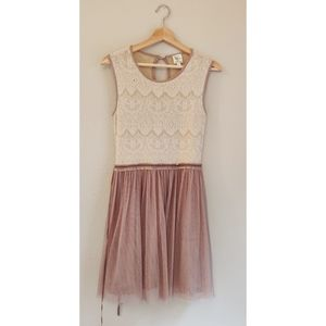 Anthropologie Dulcie Lace and Tulle Dress